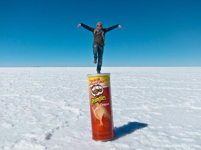 Crane Kick on a can of Pringles