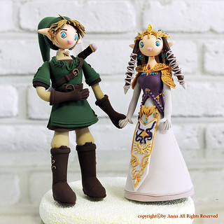 The Legend of Zelda wedding cake topper