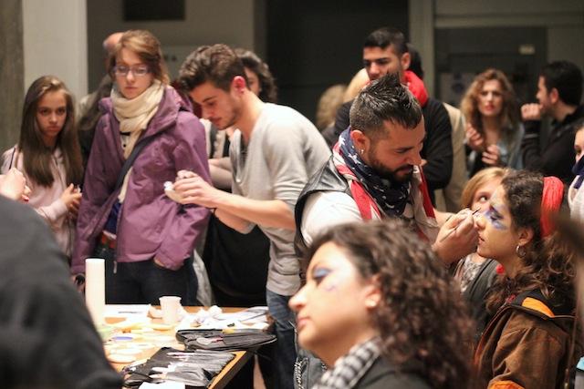 Makeup artists at Casa della Creativita