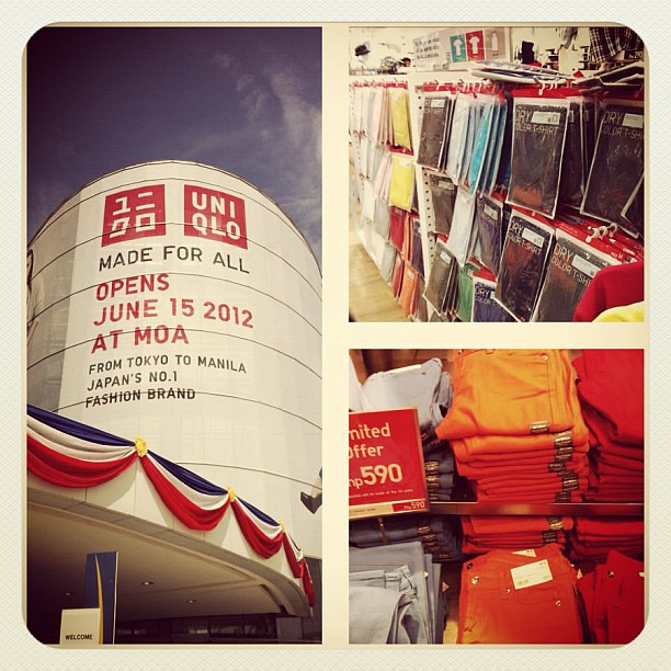 Uniqlo opens in Manila #coloredjeans #shopping