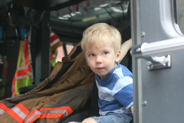 Ian in the fire truck