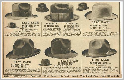 1916 mens hats