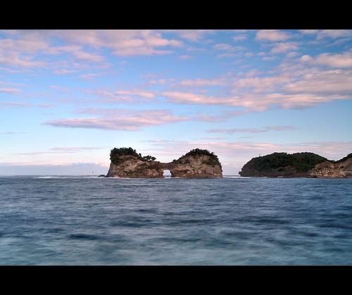 ocean japan sunrise wakayama shirahama engetsuisland