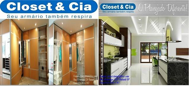 Armário ventilado com portas deslizantes e cozinha