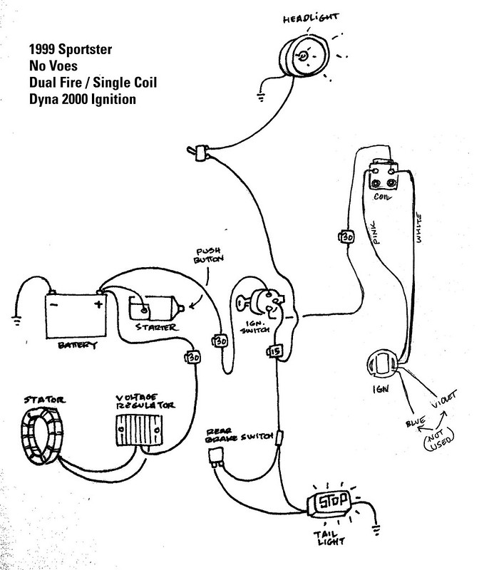 Wiring Diagram Likewise 1999 Harley Davidson Road King Wiring