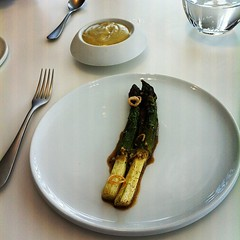 Asparagus, cooked in butter, then hollandaise made from said butter.