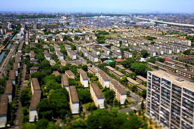 Nakayan's tilt-shift Tokyo The Matsubara Housing complex 箱庭 松原団地