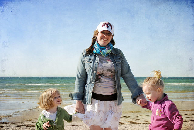 Girls on Baltic Sea