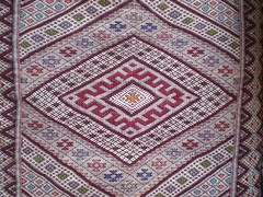 The use of diamonds in a geometric motif has been used in Middle Atlas weavings for generations.
