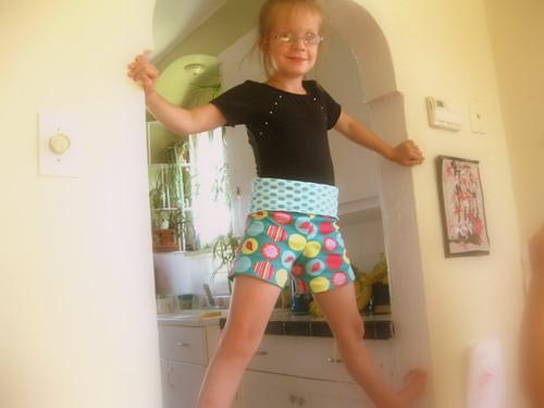 sewing modkid style yoga shorts