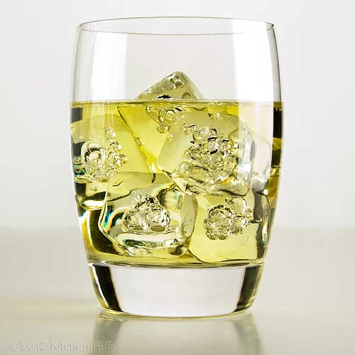 Gimlet Cocktail on-the-rocks, White Background