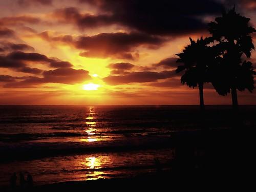 [フリー画像素材] 自然風景, ビーチ・海岸, 朝焼け・夕焼け, 風景 - アメリカ合衆国 ID:201207011600