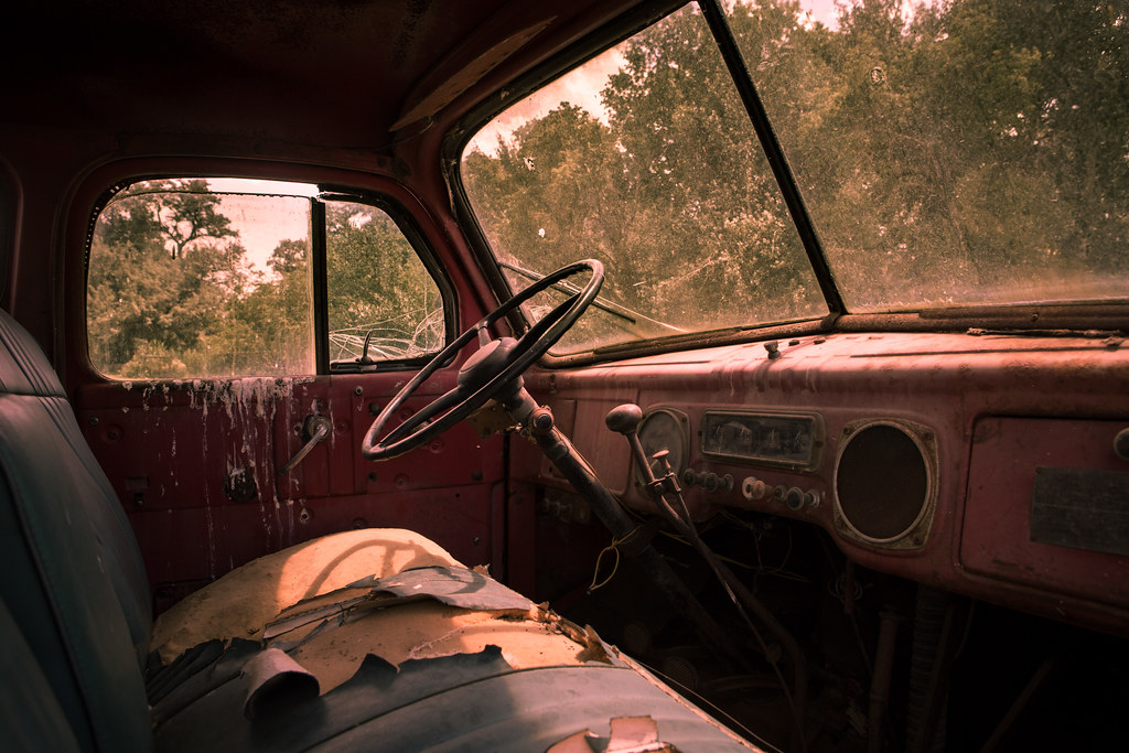 Truck Cab Interior, Antelope Island