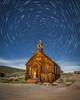 Star Trails over Bodie Church by Jeffrey Sullivan