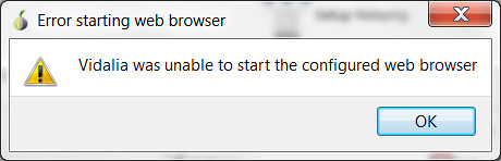 Tor Browser_Vidalia  was unable to start the configured web browser