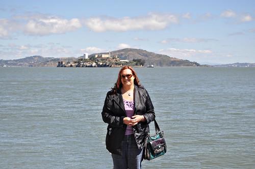 Kristi near Alcatraz