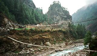Suspension Bridges Above the Dudh Kosi River