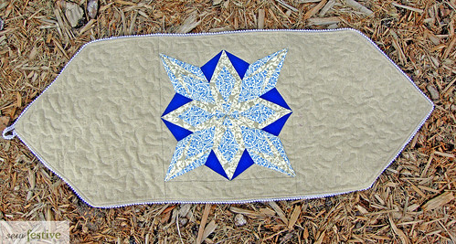 Christmas in July Snowflake Table Runner/Wall Hanging