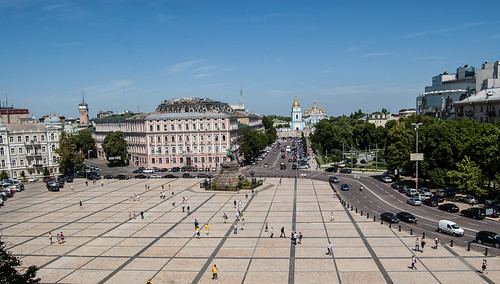 Ukraine. Kiev. Sophia Square (near Saint Sophia Cathedral)