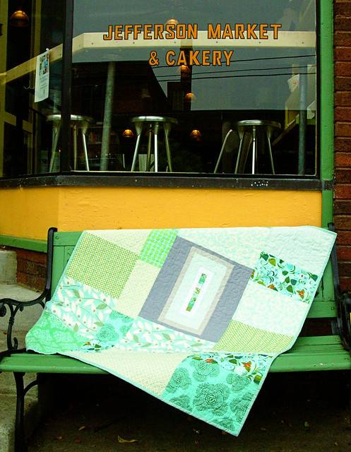 baby steps quilt back at the cakery