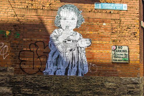 Street Art In Copper Alley (Dublin) by infomatique
