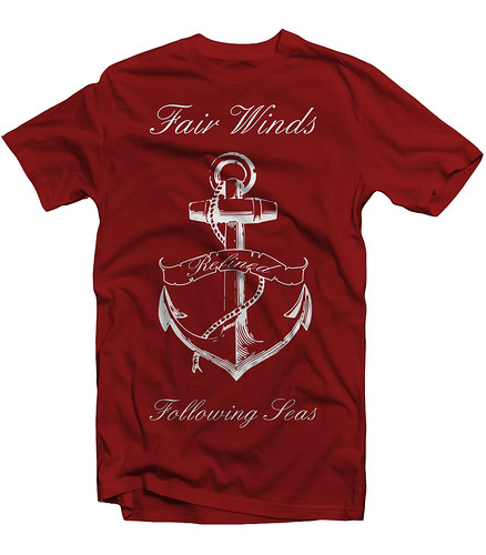 Fair Winds Tee - Cranberry