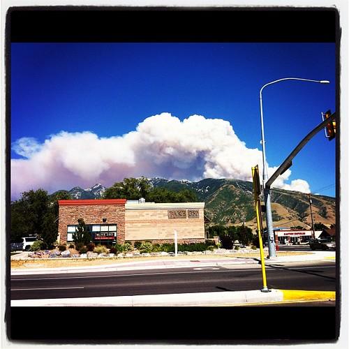 Smoke from the Alpine fire a few days ago.
