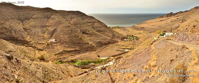 La playa de El Risco (Gran Canaria, España)