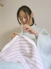 Sewing kimono for summer