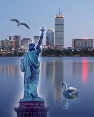 Lady Liberty in Boston
