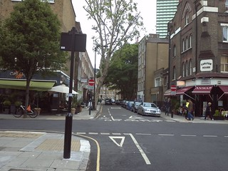 Whitfield Street/Grafton Way (facing N)