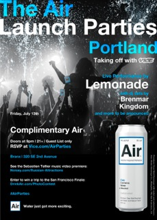 Air Launch Party w/ VICE Magazine @ Trinity | FREE, Music by Z-Trip & Sinden, Drinks