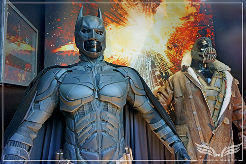 The Establishing Shot: Original Batman & Bane Costumes from The Dark Knight Rises - London by Craig Grobler