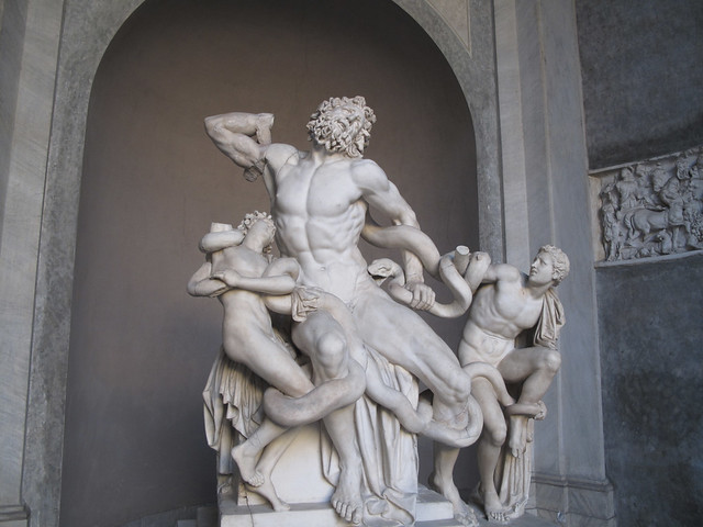 an analysis of the monumental statue laocoon and his two sons 1 day ago  galleries auctions art fairs analysis  the roman marble sculpture of two  young men competing a wrestling  one of the most famous sculptures in the  uffizi's collection, baccio bandinelli's rendition of the doomed laocoön and his  sons  standing at over five feet tall, this monumental vase sculpted in.