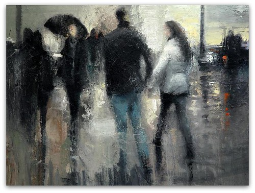 Even in The Rain. Paris. Sold