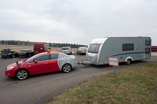 Opel Astra Anhängertest: Wohnwagen