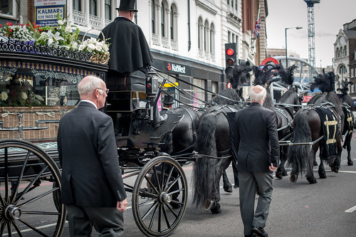 Funeral procession on Southwark Street by mdx