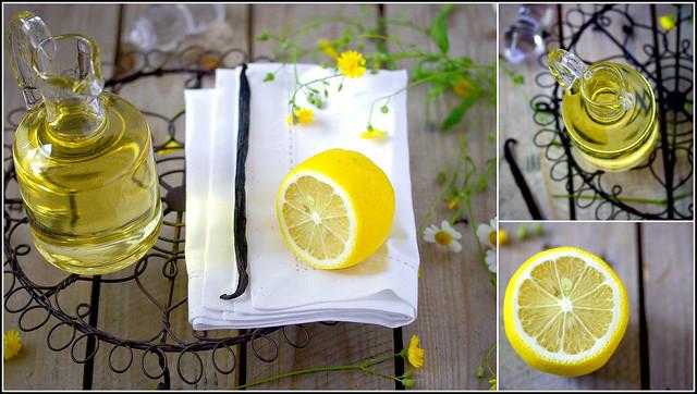 Zuckersirup aromatisiert mit Zitrone und Vanille