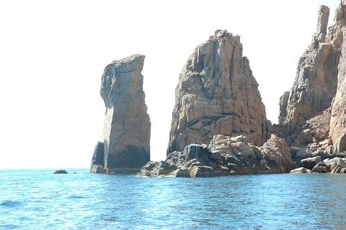 Pillars of stone, rocky islets, Sea of Cortez, boat cruise, near La Paz, Mexico by Wonderlane