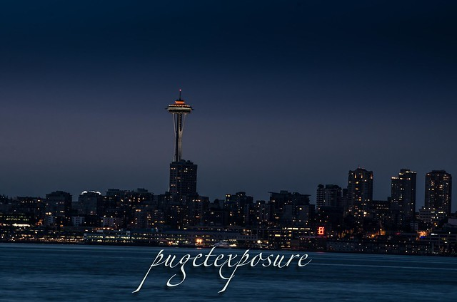 Seattle's Space Needle from Alki