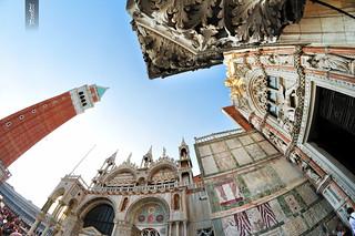 Image of Piazzetta San Marco. venice italy saint nikon san italia fisheye marc palais marco piazza uga 8mm venise venizia italie doges basilique piazzetta samyang d5000 yanngar