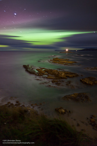 Southern Lights in Storm Bay #2 by Brendan Davey