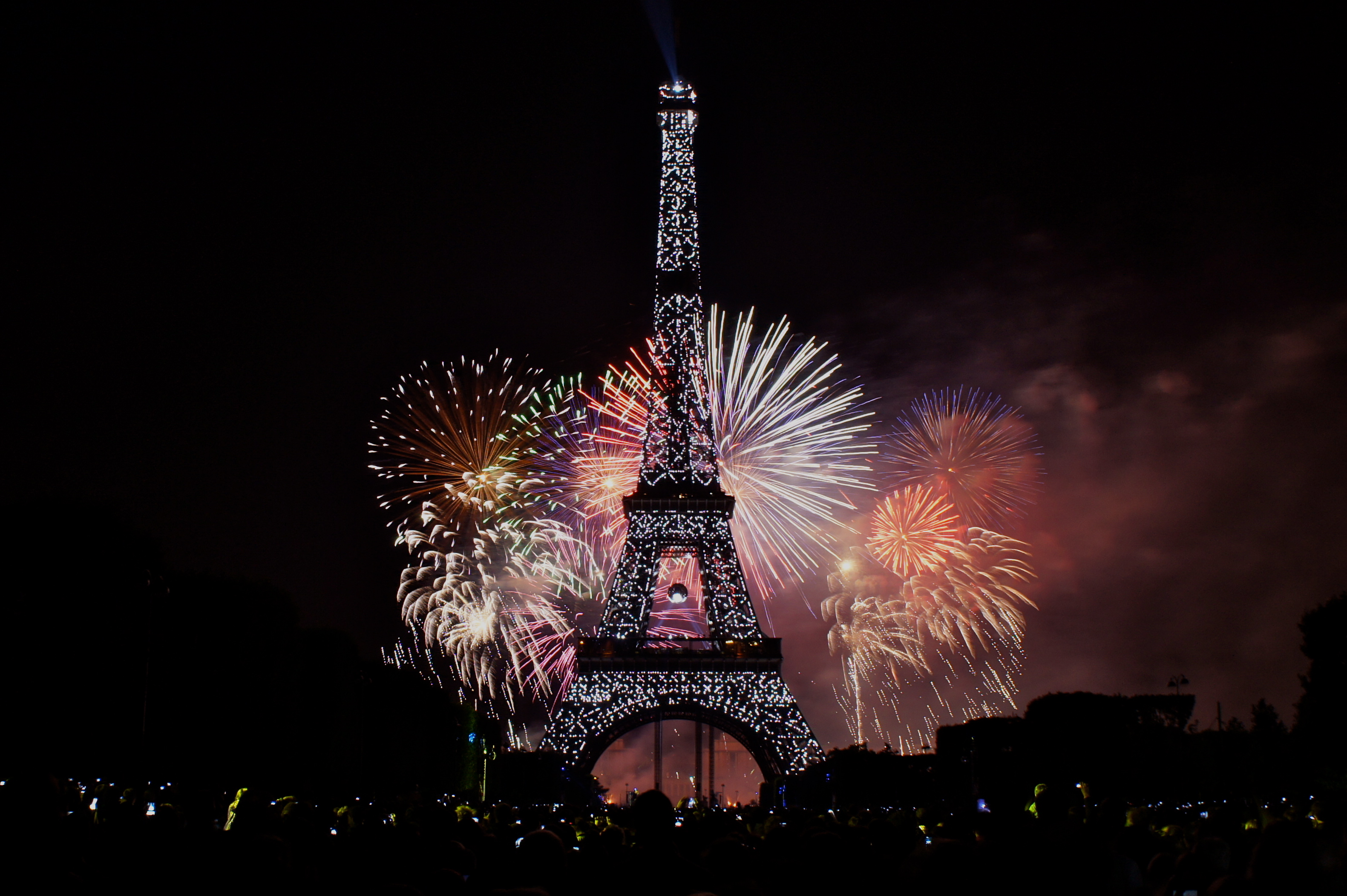 Eiffel Tower  Landscape     France  France     Paris  Fireworks  NightEiffel Tower At Night With Fireworks 2012