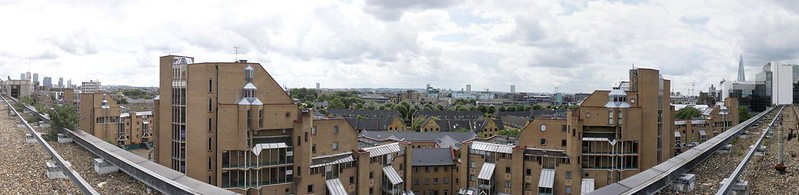 Panorama from the roof of fortress Wapping