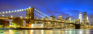 Blue Hour & Brooklyn Bridge