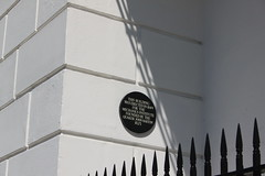 Photo of Chichester Mechanics' Institute and John Barton black plaque