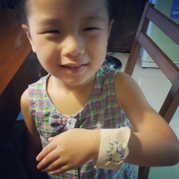 20120723 姊姊做給我的手錶。