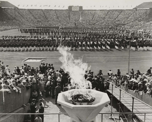 Opening of the Olympic Games in London, 29 July, 1948.