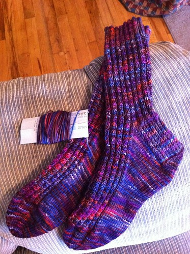 2nd pair of Simple Cable socks finished! by BlueDragon2