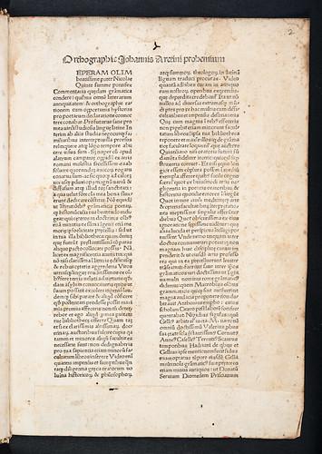 Caption title of Tortellius, Johannes: Orthographia